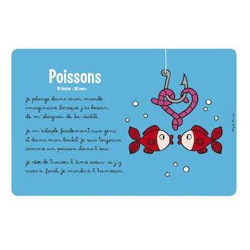 ZODIAQUE - Set de table Poisson Bleu DLP