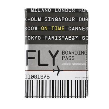 FLY - Porte passeport ETUDE Noir Gris DLP