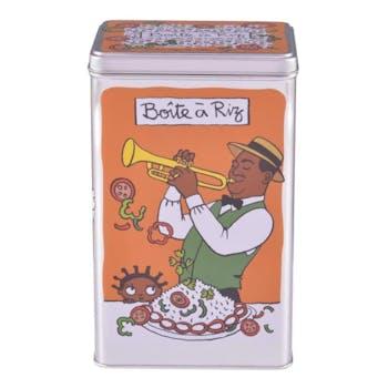 BOITE METAL COTE SALE - Boite à riz Louisiane Orange DLP