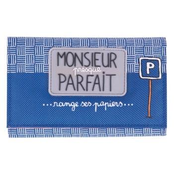 MR PRESQUE PARFAIT - Porte-papiers voiture Bleu DLP