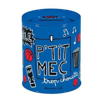 PTIT MEC - Tirelire PECULE Bleu DLP