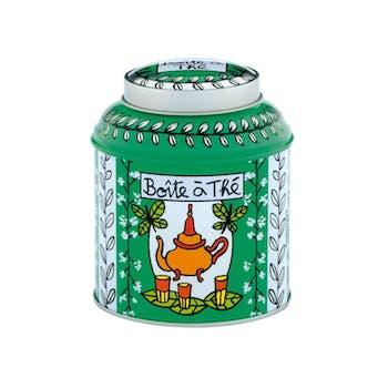 CUISINE DE VAL - Boite à thé en vrac papillon Vert 11X9cm DLP