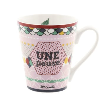 BON PETITS PLATS Mug Une Pause D8,5xH10cm DLP