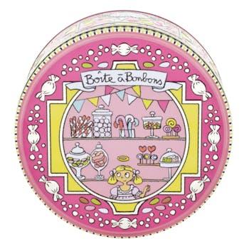 EMBOSSEE Boite à Bonbons Si Bons rose D19,5xH9cm DLP