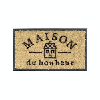 Paillasson Coco / PVC MAISON DU BONHEUR 70x40cm DLP