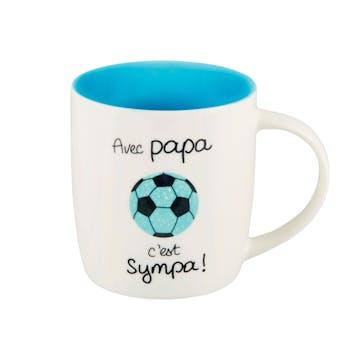 Mug (+ boite) AVEC PAPA bleu D8,5x9cm DLP