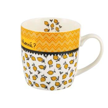 LIBERTY Mug CITRON JAUNE D8,5x9cm DLP