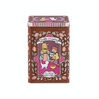 EMBOSSEE Boîte à Cacao Moustache 13x8,6x19cm DLP