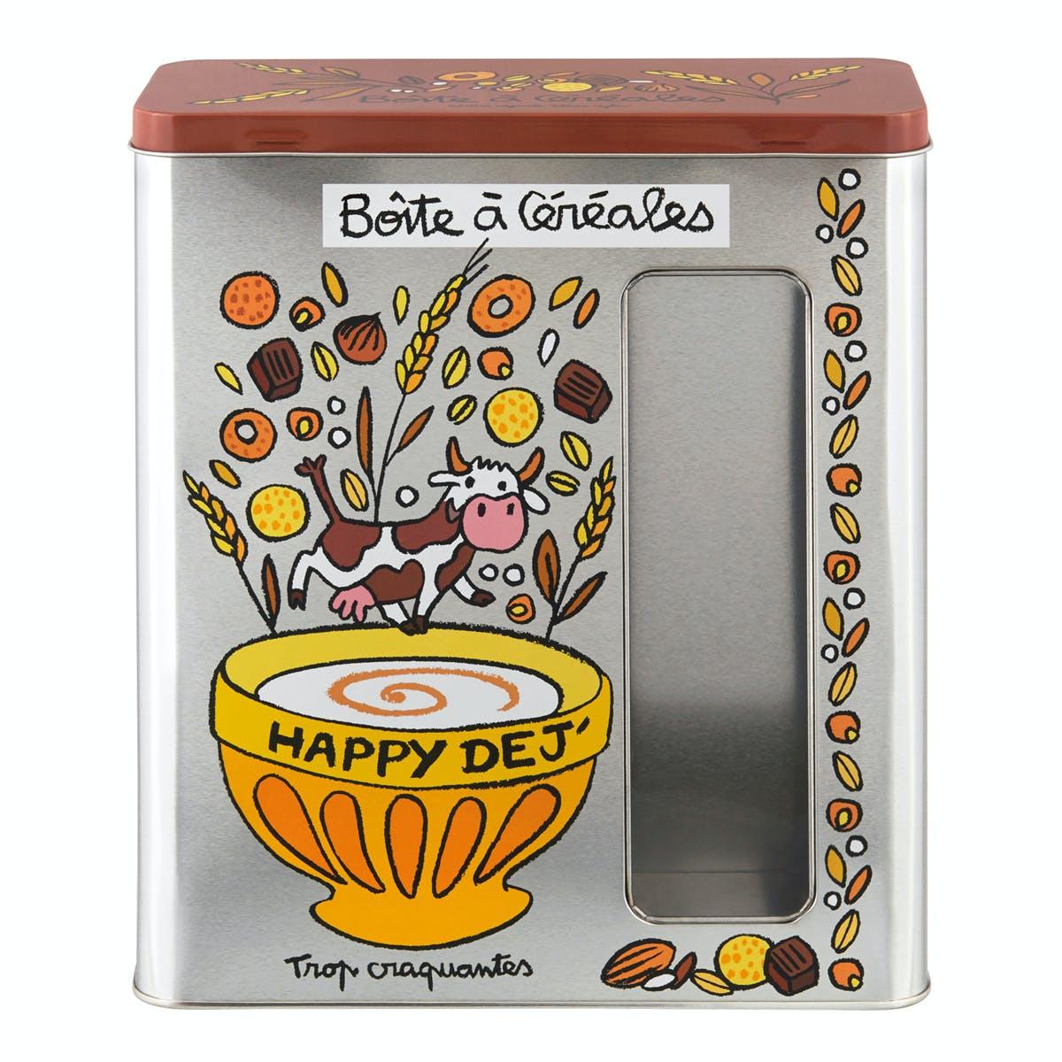 A FENETRE Boîte à Céréales Happy Déj 23,4x10,5x26,7cm DLP