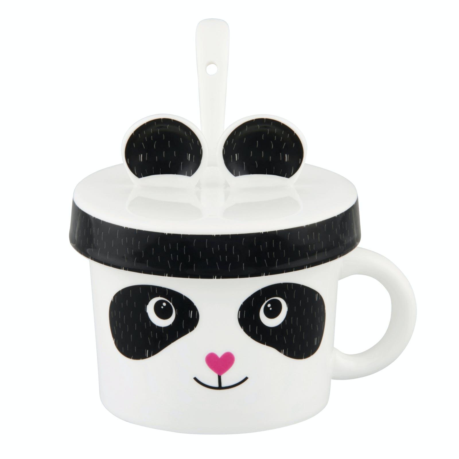 ESGOURDE Mug Esgourde Panda C?ur D9,5xH11cm DLP
