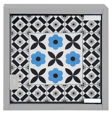 CARREAUX CIMENT Armoire à Clés Carreaux Ciment bleu 25x6x25cm DLP