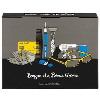 BEAU GOSSE Boîte à Bazar de Beau Gosse gris 23x4x18cm DLP