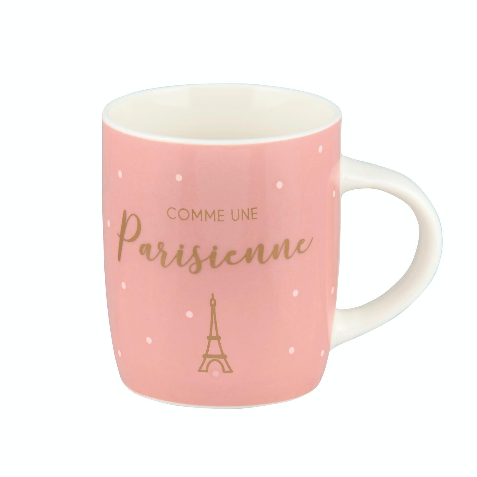 COMME UNE PARISIENNE Tasse à café rose à pois blancs 7cm