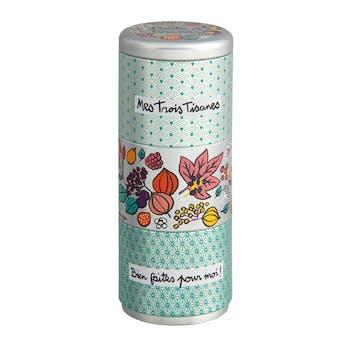 EMPILABLES Boîte à thé Mes trois thés 21,5x8,5cm DLP