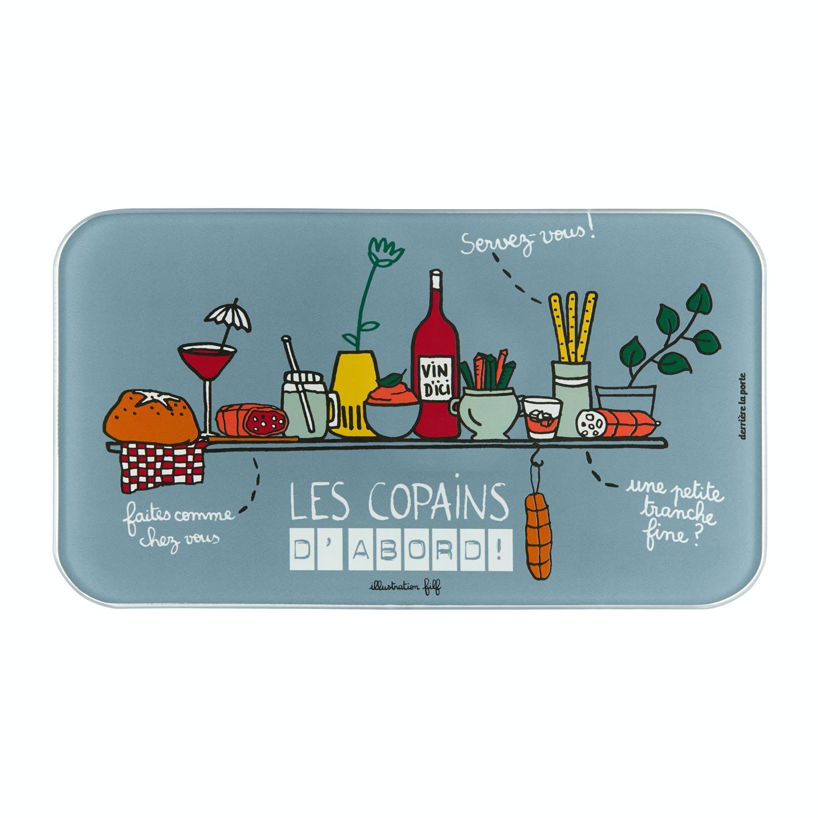 LES COPAINS D'ABORD Planche à Saucisson (+ couteau) 25x14cm DLP