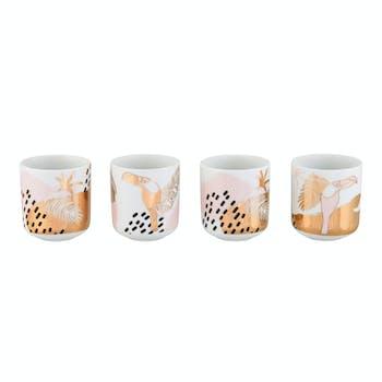 PALM Lot de 4 tasses 7,5x6,4cm DLP