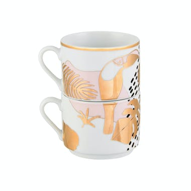 PALM Lot de 4 tasses 13x8cm DLP