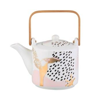 PALM Théière (+ 2 mugs) 16x24x10cm DLP
