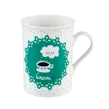 """Coffre Mug """"COCOON"""" + coupelle et pince à thé 19,5x10,5cm DLP"""