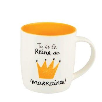 FAMILLE Mug (+ Boite) Reine des Marraines 8,5x9cm DLP