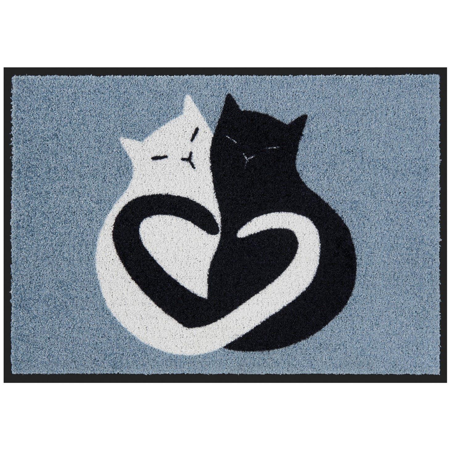 BLACK & WHITE CAT Tapis de Patio 70x50cm DLP