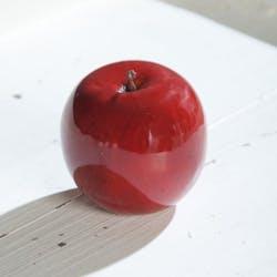 Pomme déco de Noël PIERIMPORT 7,5 cm