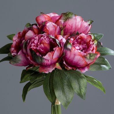 Bouquet de pivoines fuchsia 35cm