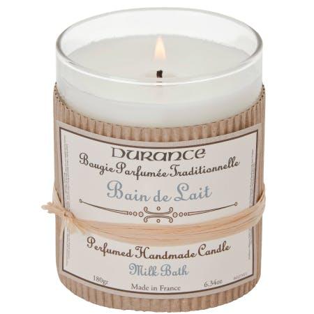 Bougie Parfumée Traditionnelle Bain de Lait 180grs DURANCE
