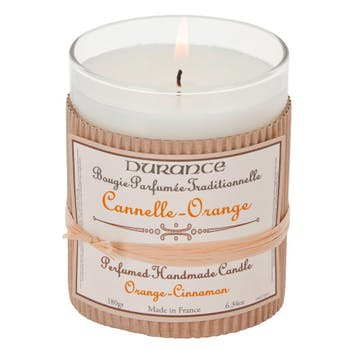 Bougie Parfumée Traditionnelle Cannelle Orange 180grs DURANCE