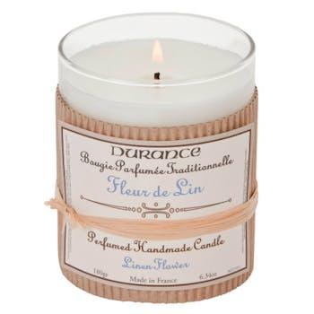 Bougie Parfumée Traditionnelle Fleur de Lin 180grs DURANCE