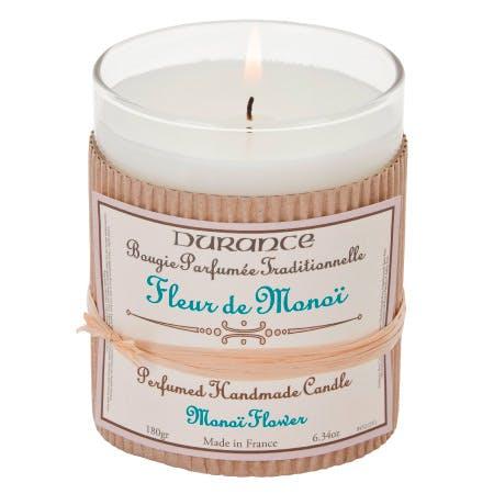 Bougie Parfumée Traditionnelle Fleur de Monoï 180grs DURANCE