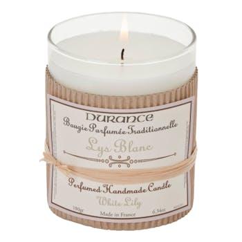 Bougie Parfumée Traditionnelle Lys blanc 180grs DURANCE