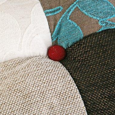 Coussin rectangle épais en tissu Patchwork coloré 50x15x30cm EIDER