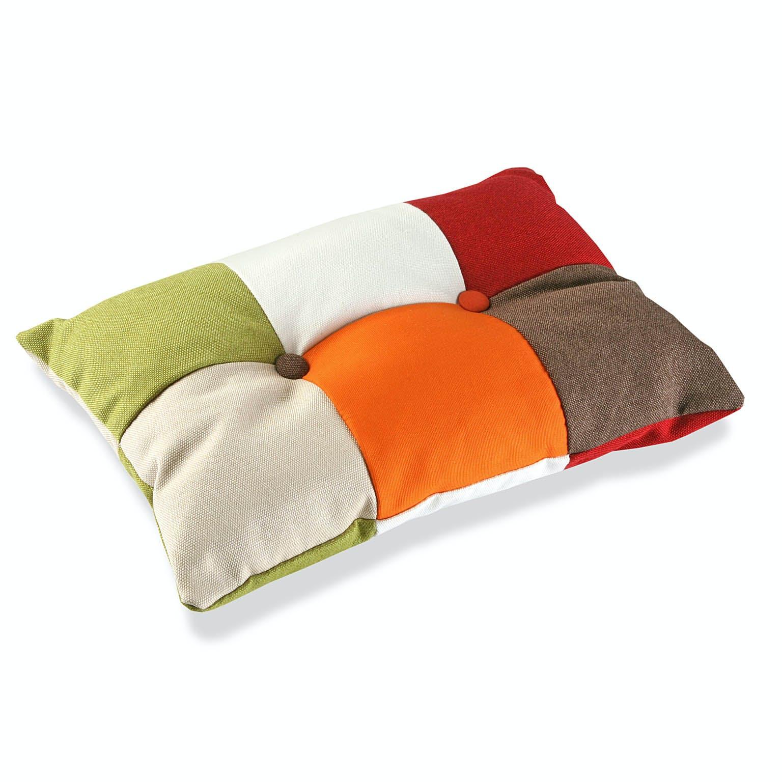 Coussin rectangle épais en tissu Patchwork coloré 50x15x30cm GREEN