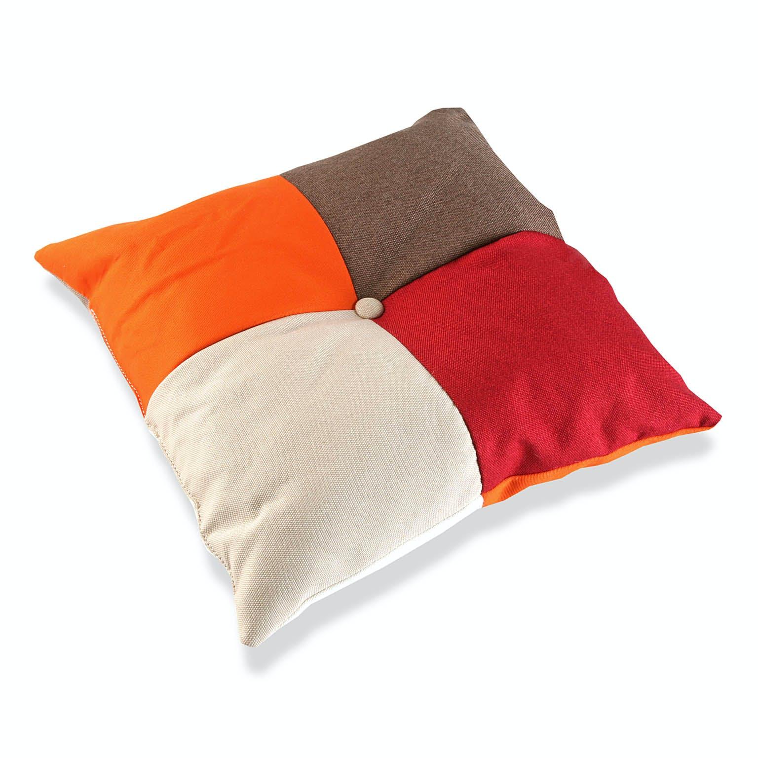 Coussin carré épais en tissu Patchwork coloré 45x15x45cm GREEN