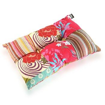 Coussin rectangle épais en tissu coloré à motifs 50x15x30cm BOHEME