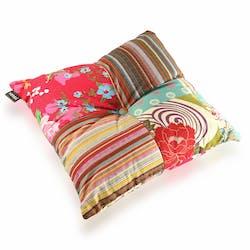 Coussin carré épais en tissu coloré à motifs 45x15x45cm BOHEME