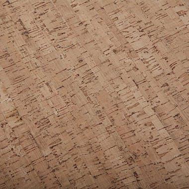 Tabouret Pouf bas rond tissu imprimé liège et pieds bois D34x35cm