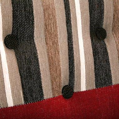 Banquette 2 places en tissu Patchwork coloré et pieds bois 138x73x84cm EIDER