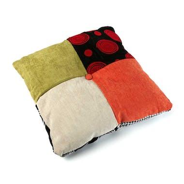 Coussin carré en tissu à motif Patchwork coloré 45x45x15cm BARCELONE