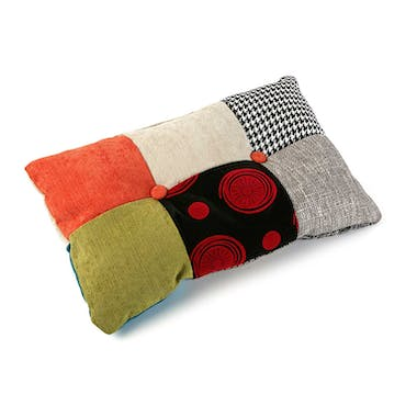 Coussin rectangle en tissu à motif Patchwork coloré 50x30x15cm BARCELONE