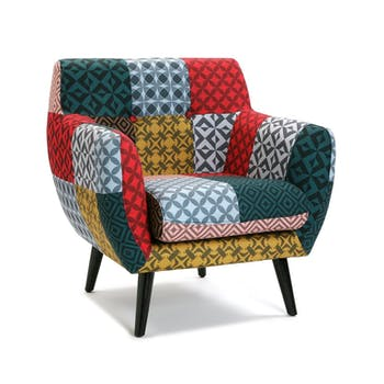 Fauteuil club patchwork Harvey