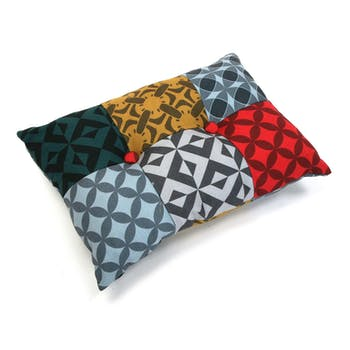 Coussin patchwork rectangulaire Harvey
