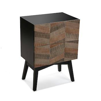 Table de chevet bois motifs ethniques CANBERRA