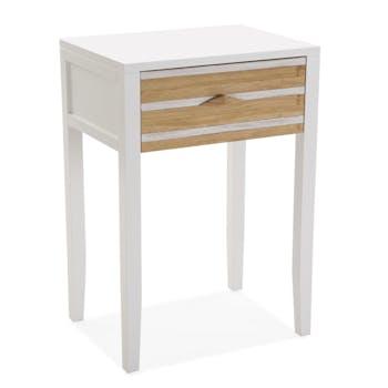 Table de nuit blanche en bois HONFLEUR