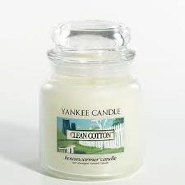 Coton Frais bougie parfumée grande jarre YANKEE CANDLE