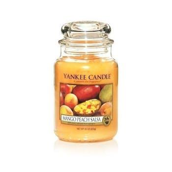 Mangue et Peche bougie parfumée grande jarre YANKEE CANDLE