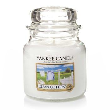 Coton Frais bougie parfumée moyenne jarre YANKEE CANDLE