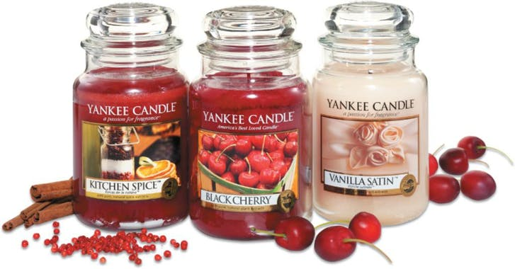 Cerise Griotte bougie parfumée moyenne jarre YANKEE CANDLE