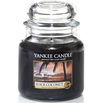 Noix De Coco Noire bougie parfumée moyenne jarre YANKEE CANDLE